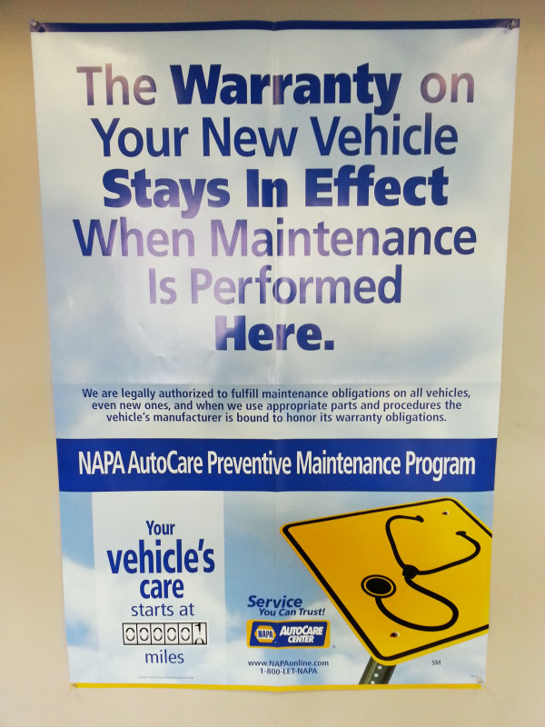 NAPA Auto Care Preventative Maintenance Program